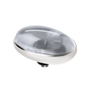 Melano Twisted zetting oval crystal