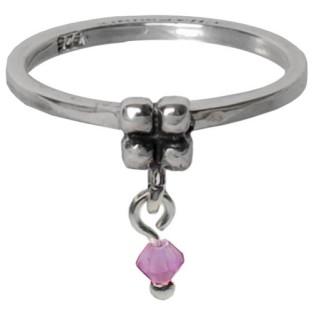 Charmins dangling diamond milky purple 092