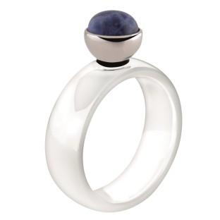 Melano Twisted ring ceramic white gloss