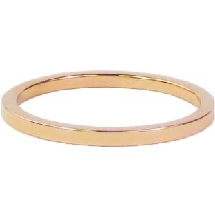 Charmins steel ring R315 rose gold