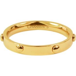 Charmins steel ring R323 gold