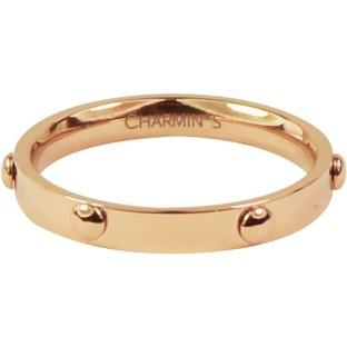 Charmins steel ring R324 rose gold