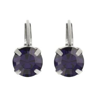 Biba oorbellen purple velvet