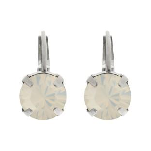 Biba oorbellen white opal