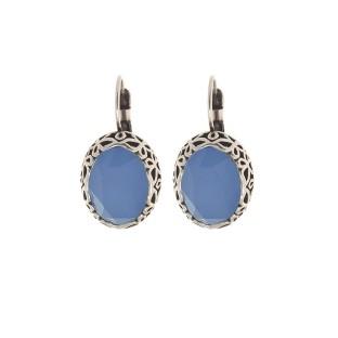 Biba oorbellen 8551 air blue opal