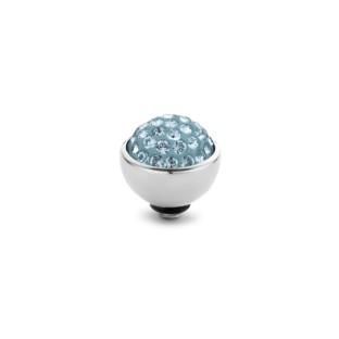 Melano Twisted zetting shiny stone aquamarine 6 mm