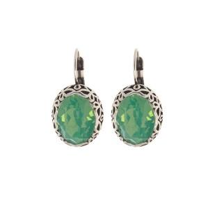 Biba oorbellen 8551 chrysolite opal