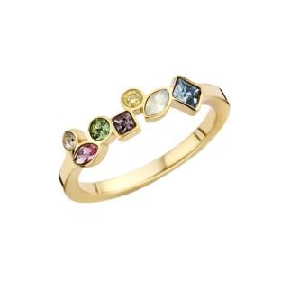 Melano Friends ring mosaic colour gold