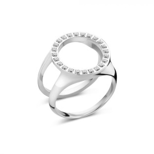 Melano Friends ring cover CZ stainless steel