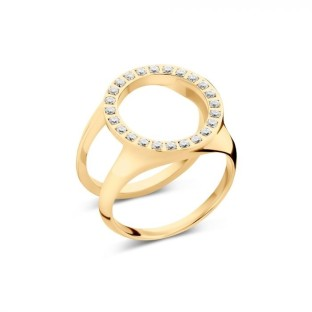 Melano Friends ring cover CZ gold