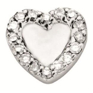 Enchanted symbols open heart with zirkonia