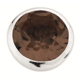 Enchanted round natural stones smoky quartz facet