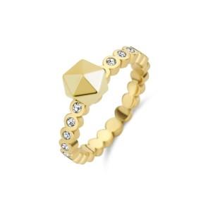 Melano Twisted ring wave CZ gold