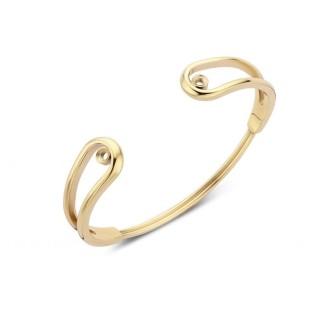 Melano Twisted armband double loop gold