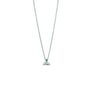 Drupt chain ketting zilver
