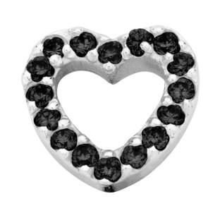 Enchanted bracelet elements heart zirkonia 9 mm black