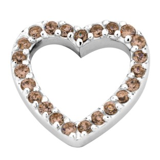 Enchanted elements heart zirkonia 14 mm brown