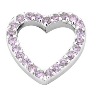 Enchanted elements heart zirkonia 14 mm pink