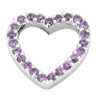 Enchanted elements heart zirkonia 14 mm purple