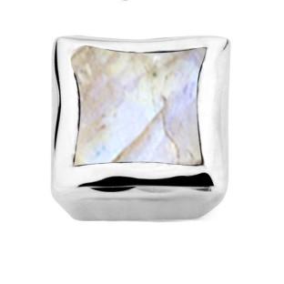 Enchanted bracelet element square blue moonstone facet