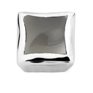 Enchanted bracelet element square grey moonstone cabochon silver