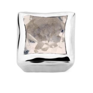 Enchanted bracelet element square rose quartz facet silver rhodium