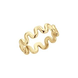 Melano Friends ring crinkle gold