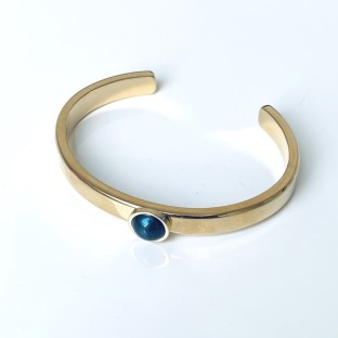 Superdeal Vivid Armband Vanessa pearl grey blue gold