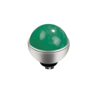 Melano Twisted zetting gem stone jade 6 mm