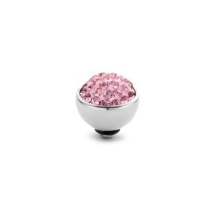 Melano Twisted zetting shiny stone light rose 6 mm