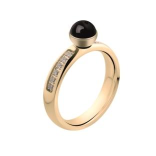 Melano Twisted ring CZ gold