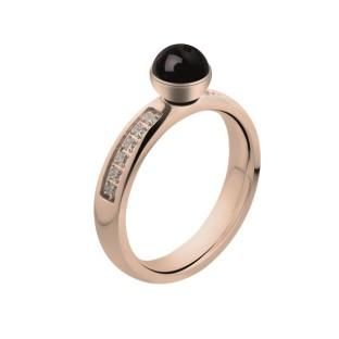 Melano Twisted ring CZ rose gold