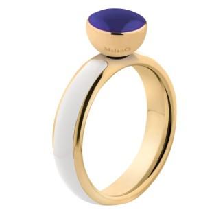 Melano Twisted ring resin white-gold