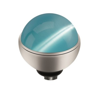 Melano Twisted zetting Cateye light blue 6 mm