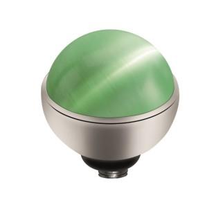 Melano Twisted zetting Cateye light green 8 mm