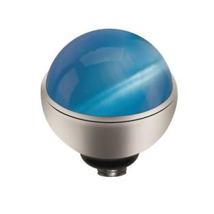Melano Twisted zetting Cateye sea blue 8 mm