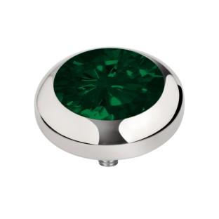 Melano Vivid zetting zirkonia emerald green 5 mm