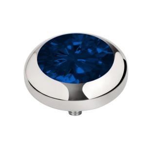 Melano Vivid zetting zirkonia navy blue 5 mm