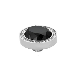 Melano Vivid zetting oval facet crystal-black