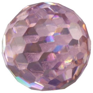 Melano Cateye stone zirkonia facet pink