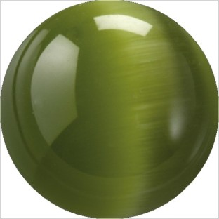 Melano Cateye stone balletje dark green