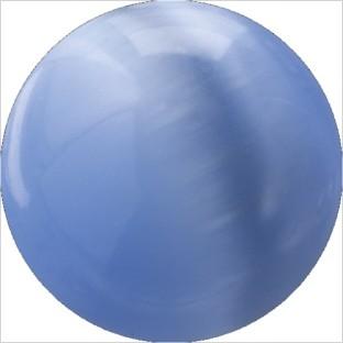 Melano Cateye stone balletje grey blue