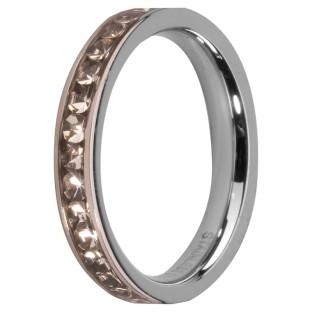 Melano Stainless Steel Friends  ring stainless steel crystal