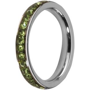 Melano Stainless Steel Friends ring stainless steel peridot