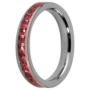 Melano Stainless Steel Friends  ring stainless steel rose