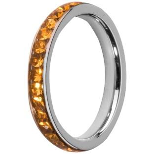Melano Stainless Steel Friends ring stainless steel topaz