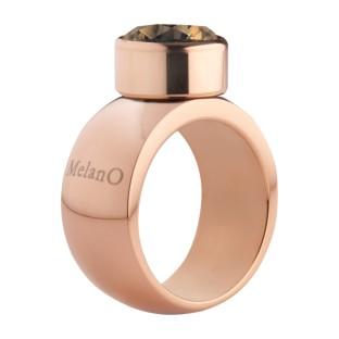 Melano Stainless Steel ring rose 10 mm rond model
