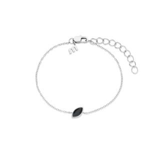Melano Friends armband mini marquise black