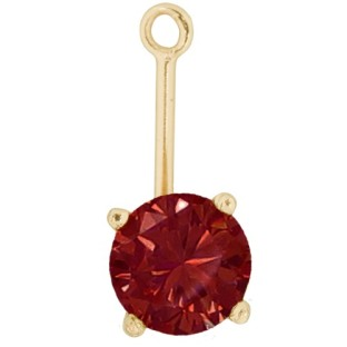 Charmins oorhangers gold deep red PE22
