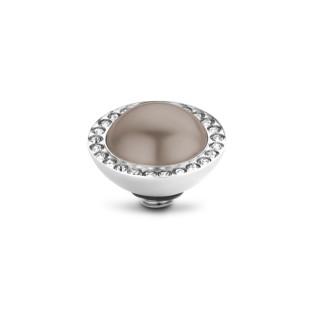 Melano Twisted zetting pearl bronze CZ